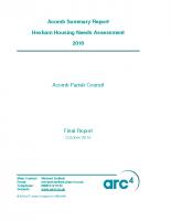 Acomb Parish HNS Summary Report